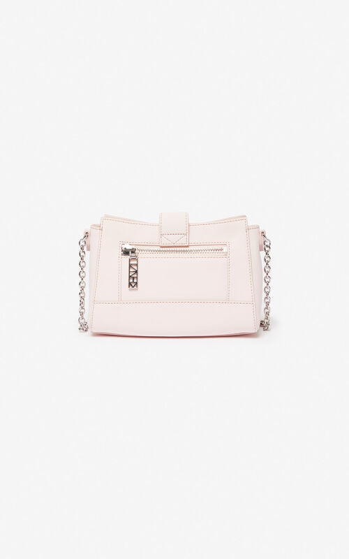 FADED PINK Tiny leather Kalifornia bag for unisex KENZO