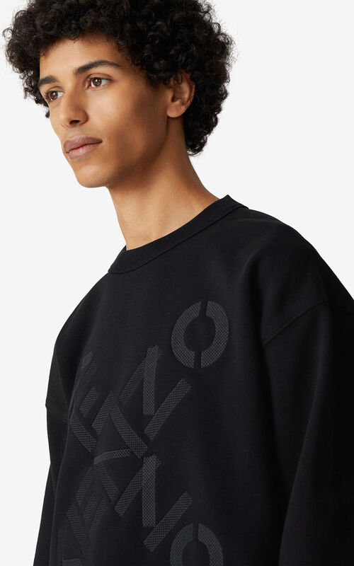 BLACK KENZO Sport 'Big X' sweatshirt for women