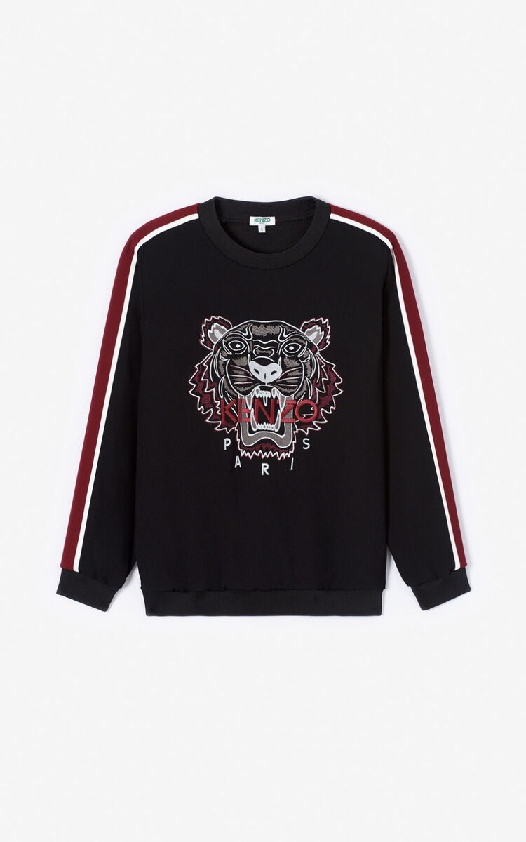 BLACK Crepe Tiger Top for women KENZO