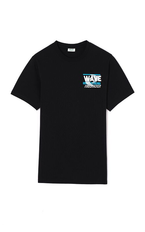 BLACK Wave T-shirt for men KENZO