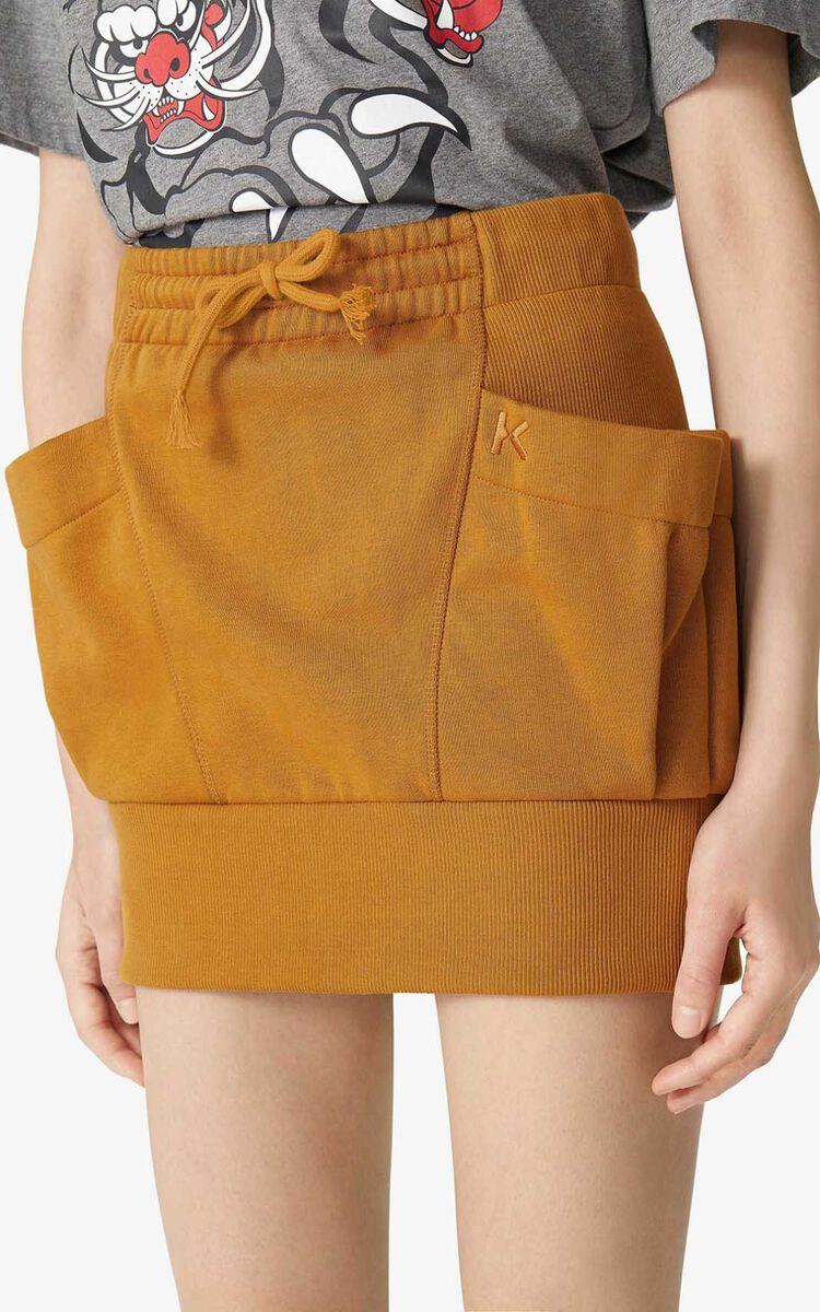 DARK BEIGE Mini skirt for women KENZO
