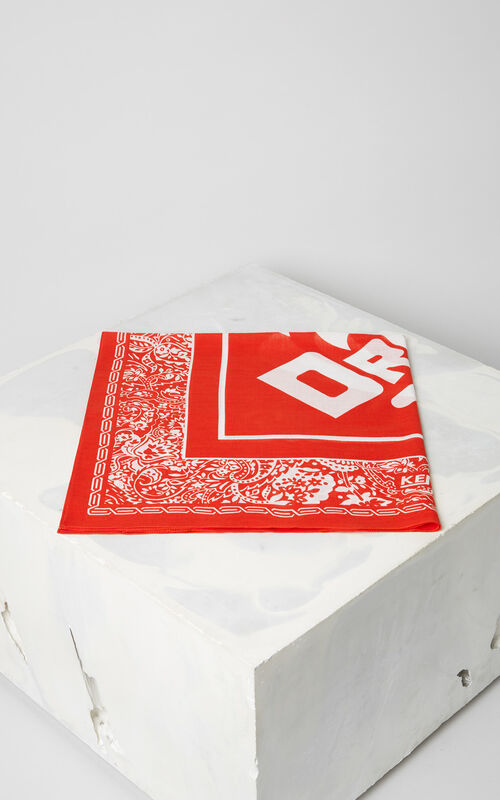 MEDIUM RED 'Dream' biker Bandana for unisex KENZO