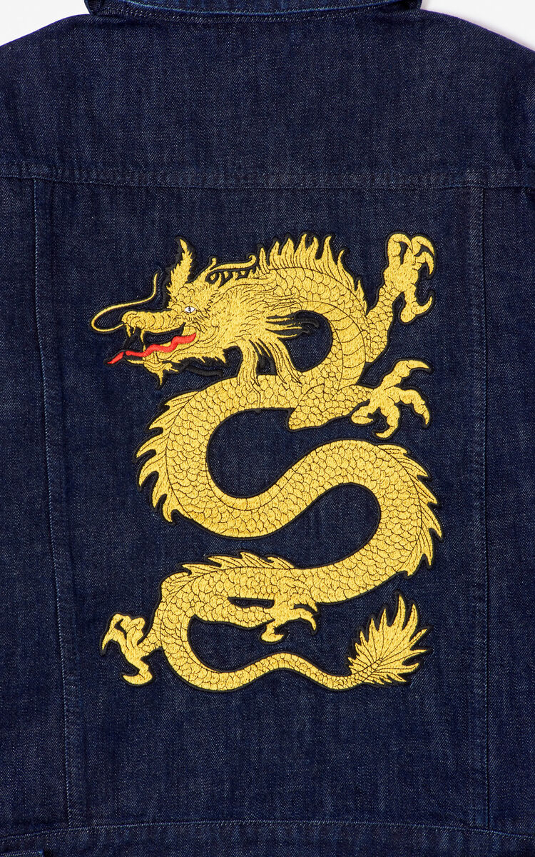 INK 'Dragon' denim jacket for women KENZO