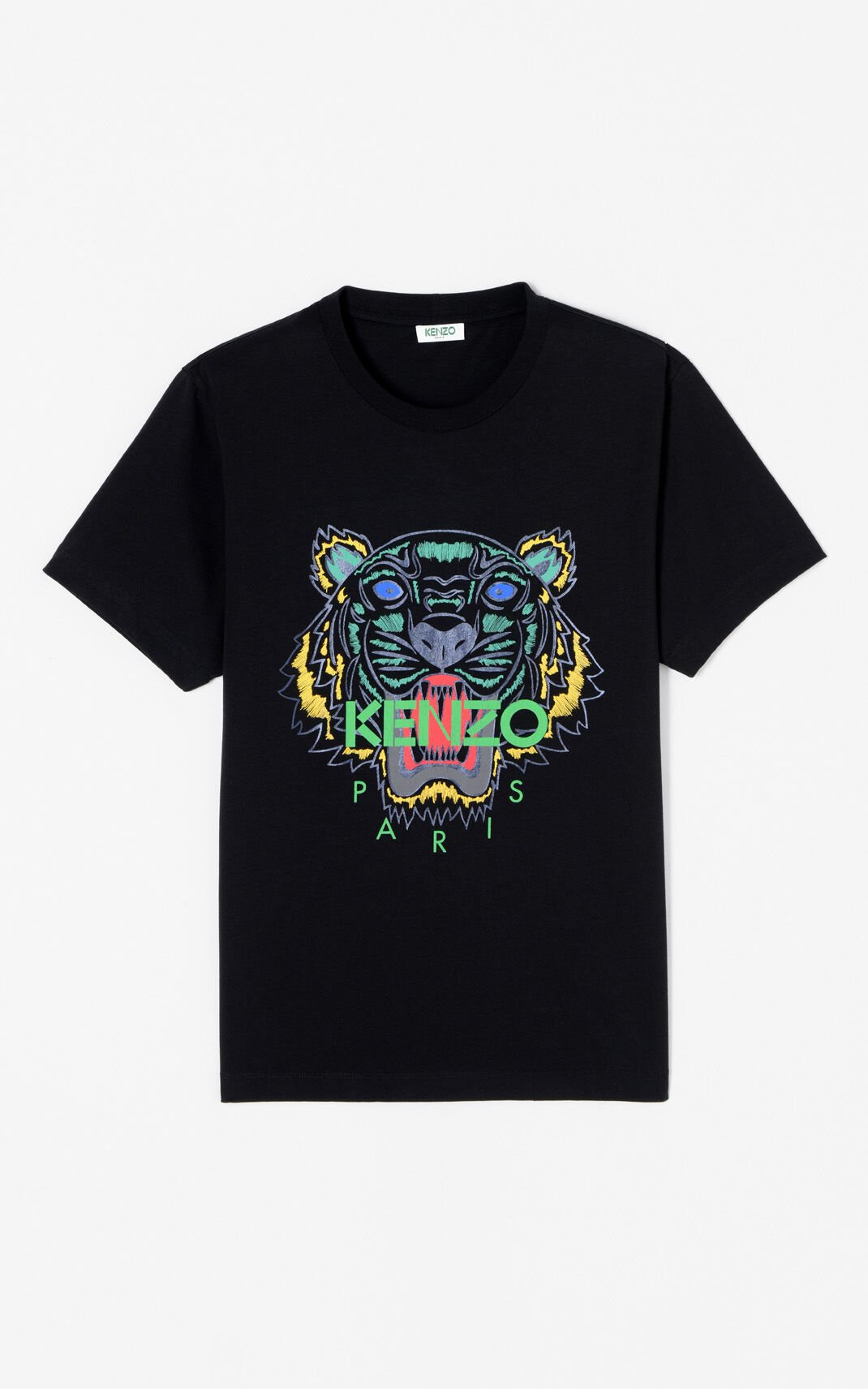 BLACK 'Holiday Capsule Collection' Tiger T-shirt for men KENZO