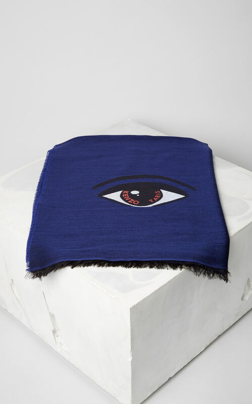 NAVY BLUE Eye scarf for women KENZO