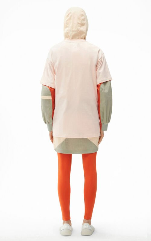 BLUSH KENZO Sport 'Big X' oversized t-shirt for women