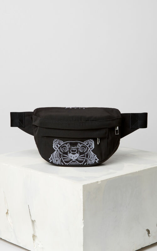 BLACK Tiger bumbag for unisex KENZO