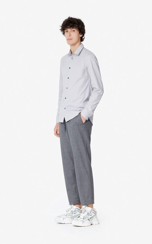PEARL GREY 'Holiday Capsule' slim-fit shirt for women KENZO