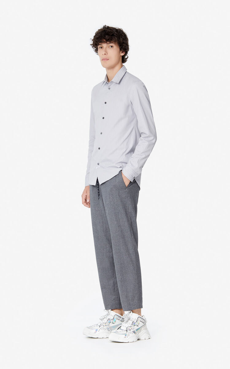 PEARL GREY 'Holiday Capsule' slim-fit shirt for men KENZO