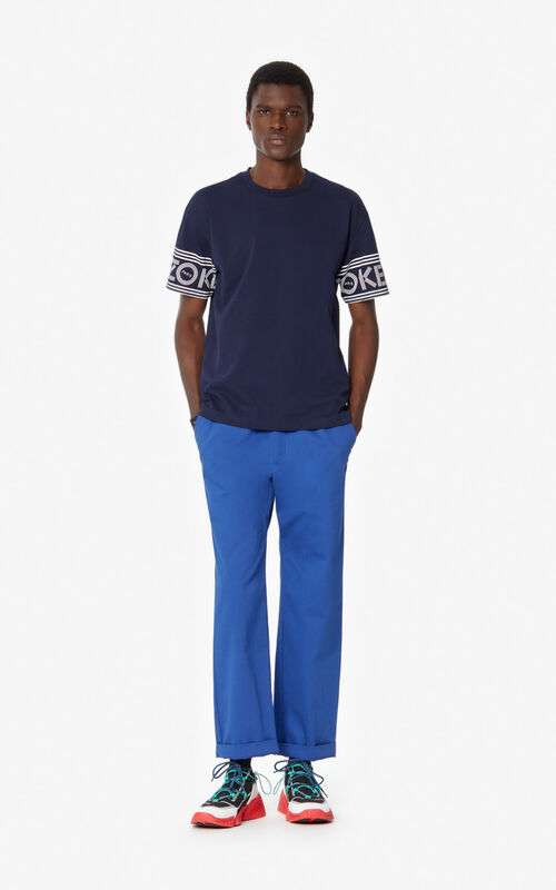 MIDNIGHT BLUE KENZO Logo T-shirt   for men