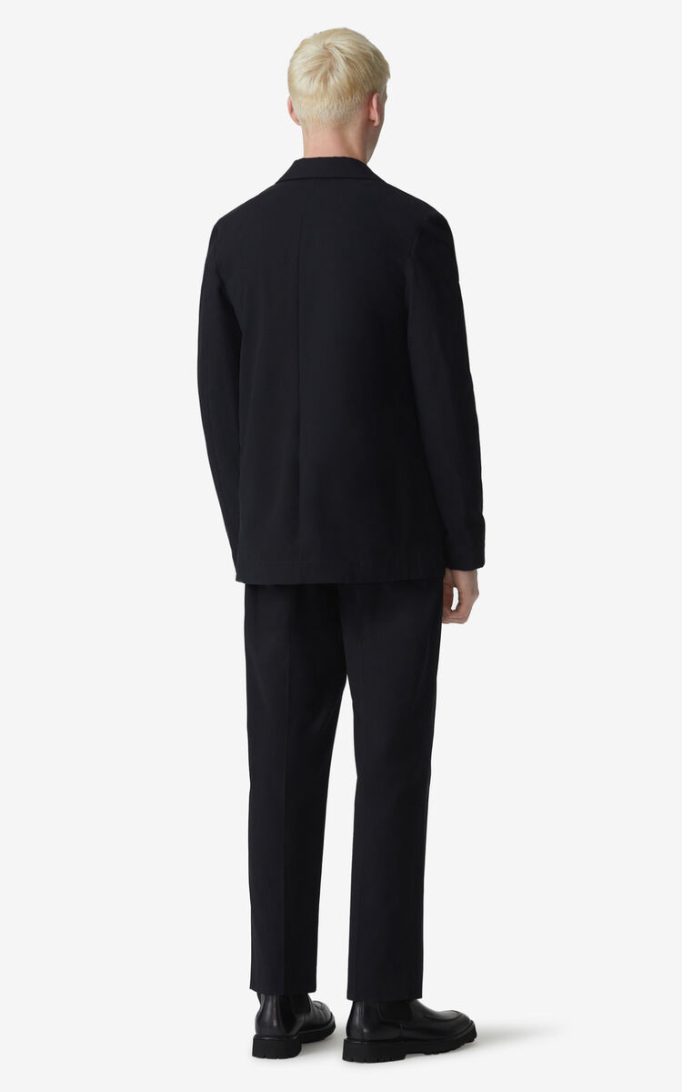 BLACK Pleated trousers for men KENZO
