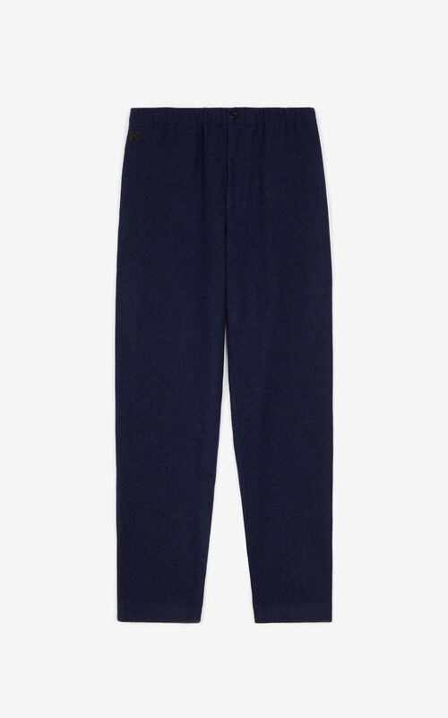 BLUE BLACK Flannel jogging trousers for unisex KENZO