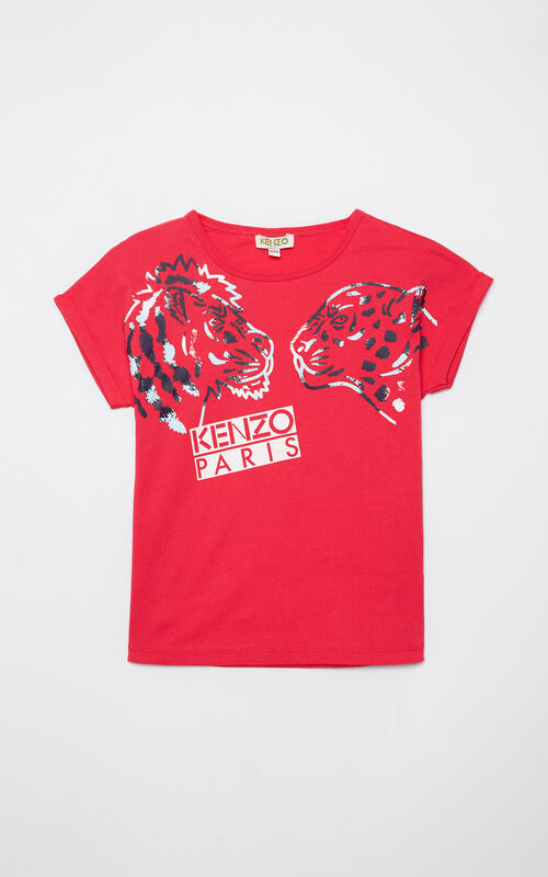 DEEP FUSCHIA 'Tiger Friends' t-shirt for women KENZO