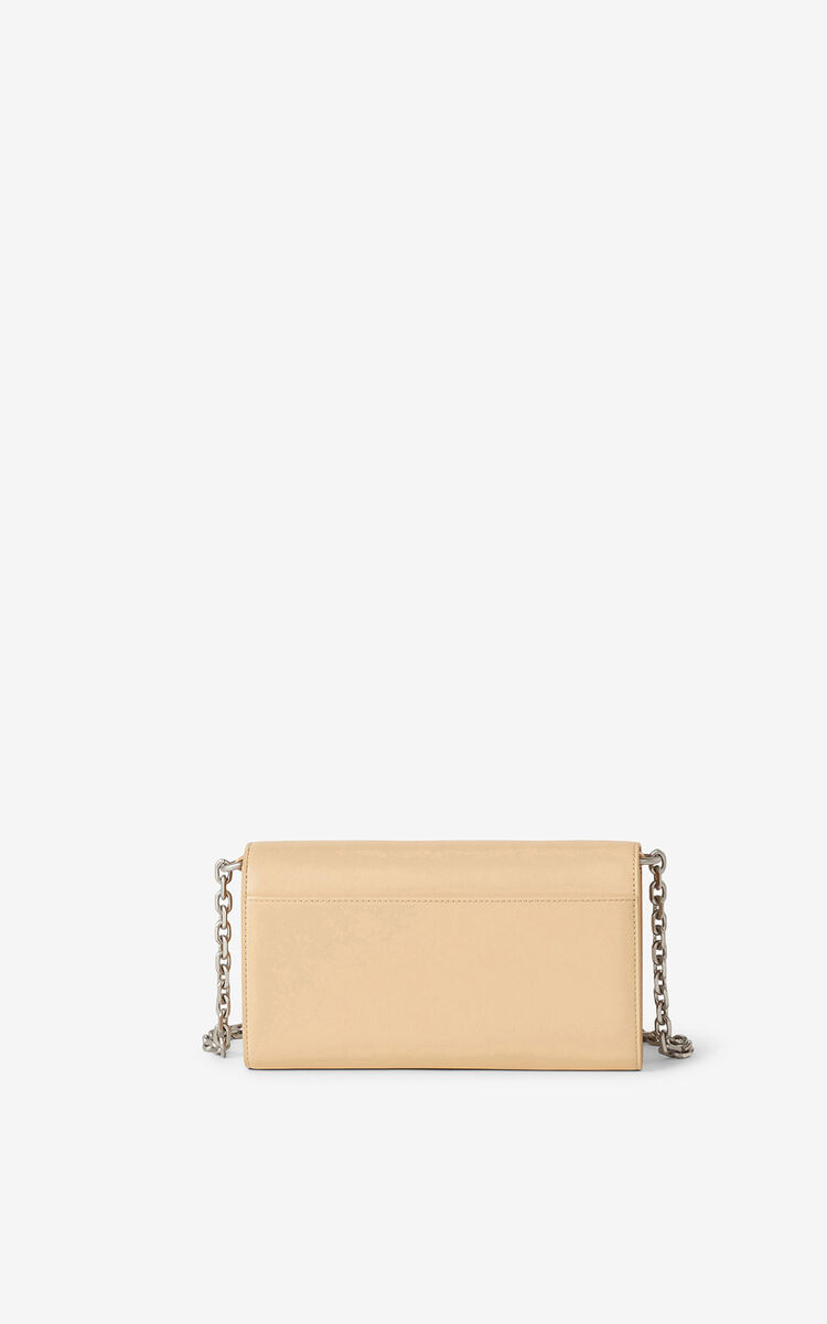 NUDE KENZO K leather chain wallet for women