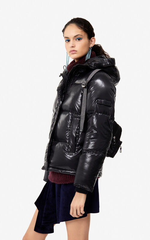 0cdcfa82 ... BLACK Quilted down jacket 'Holiday Capsule' for women KENZO