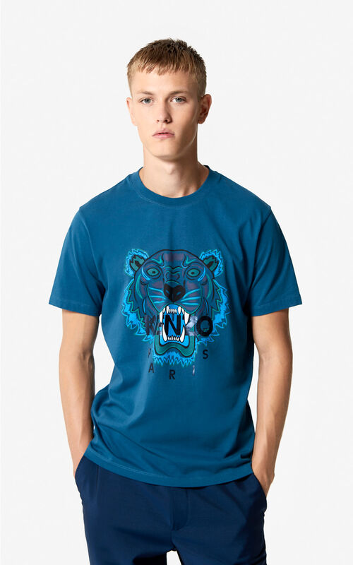 DUCK BLUE Tiger T-shirt 'Holiday Capsule' for men KENZO