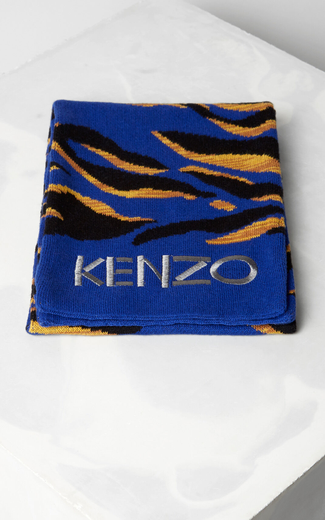 MIDDLE GREY Tiger Stripes 'scarf for men KENZO