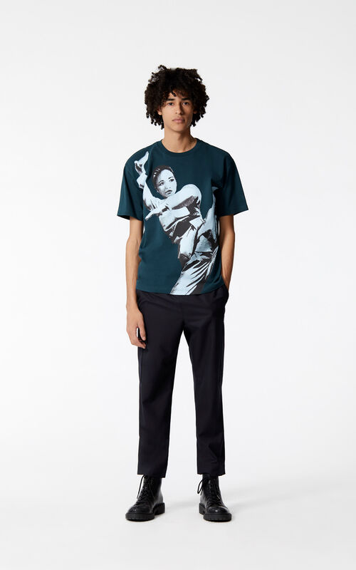 802db794b ... PINE 'Kung Fu' t-shirt for men KENZO. '