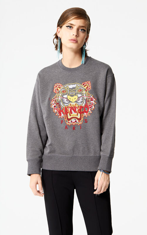 DARK GREY 'Dragon Tiger' Sweatshirt for women KENZO