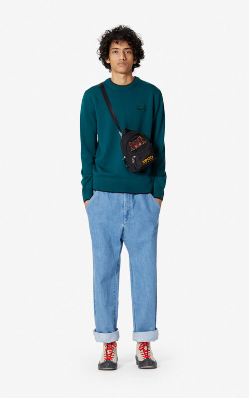 PINE Woollen Tiger jumper for men KENZO
