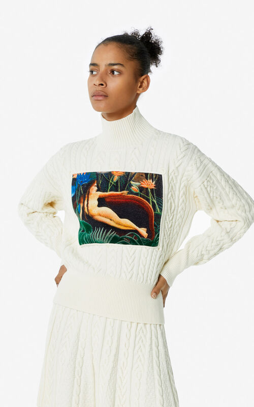 ECRU Printed jumper for women KENZO