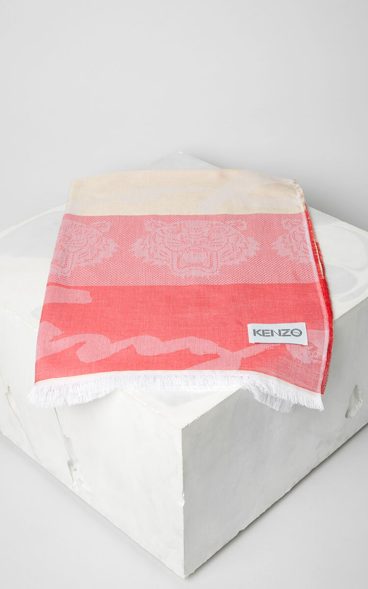 FLAMINGO PINK Multi icon scarf for unisex KENZO