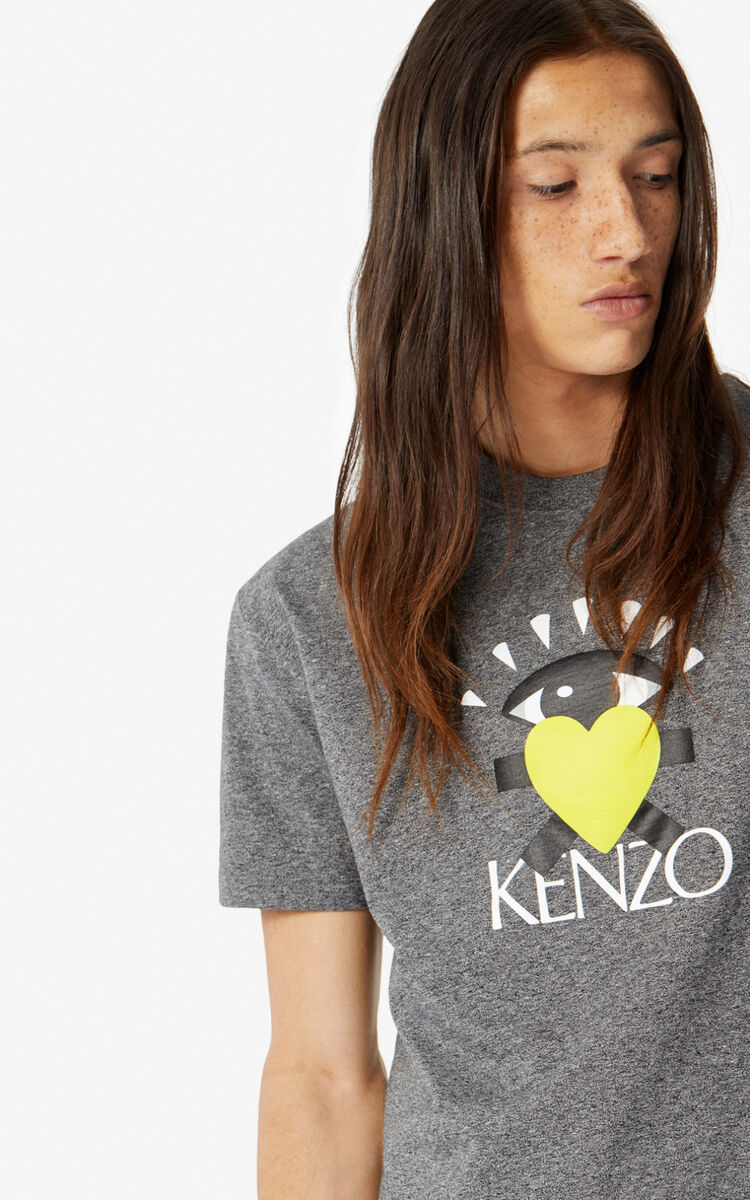 ANTHRACITE 'Cupid' T-shirt for men KENZO