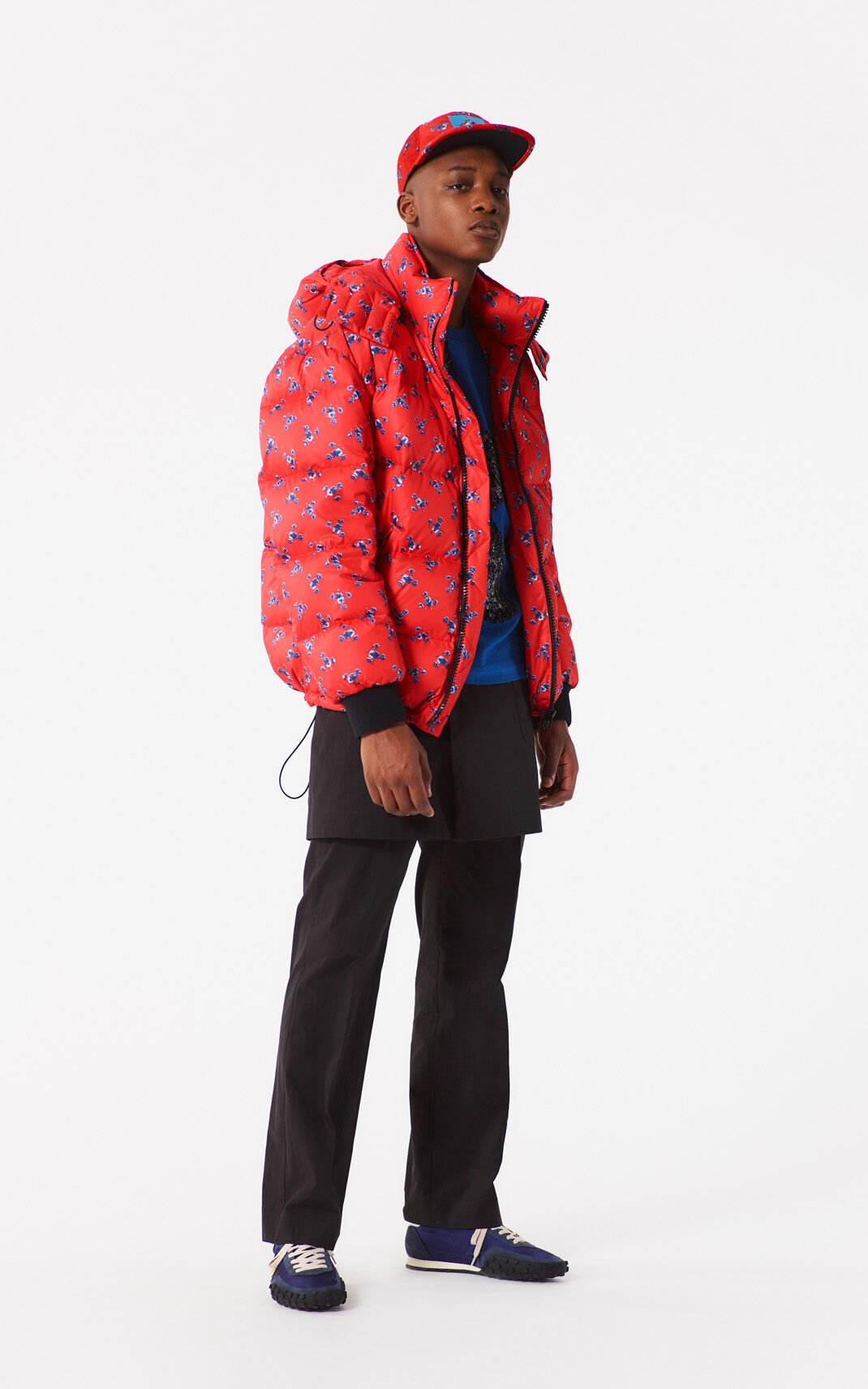 MEDIUM RED 'May Flowers' Down Jacket for men KENZO
