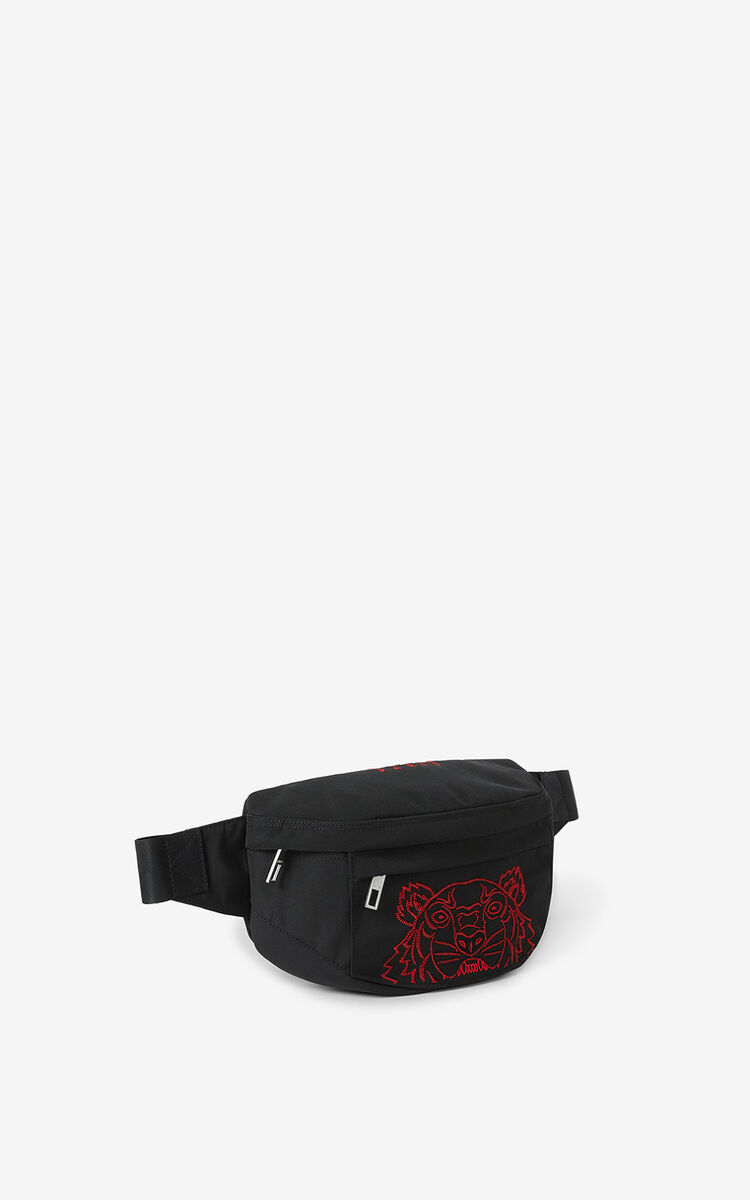 BLACK  Tiger belt bag for women KENZO