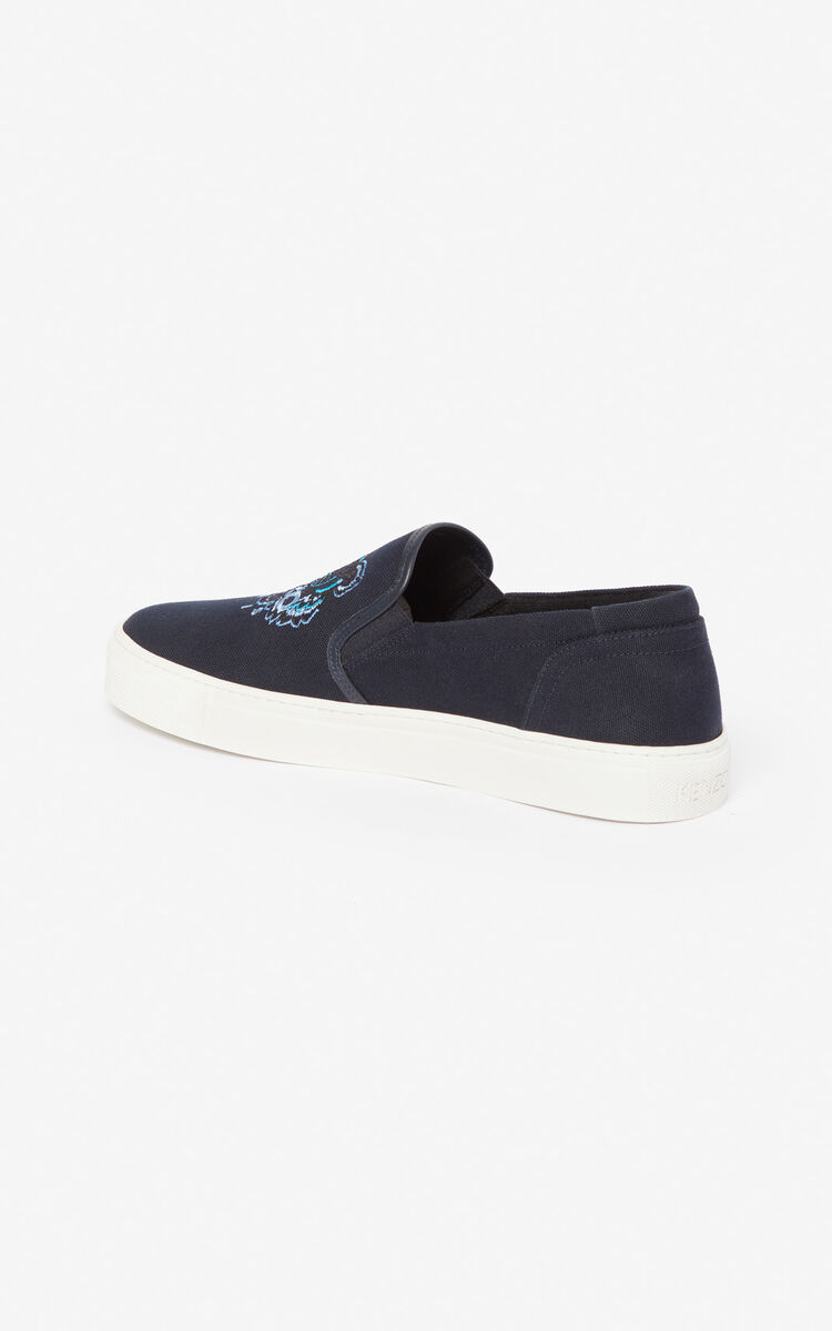 NAVY BLUE Tiger slip-ons  'Holiday Capsule' for women KENZO