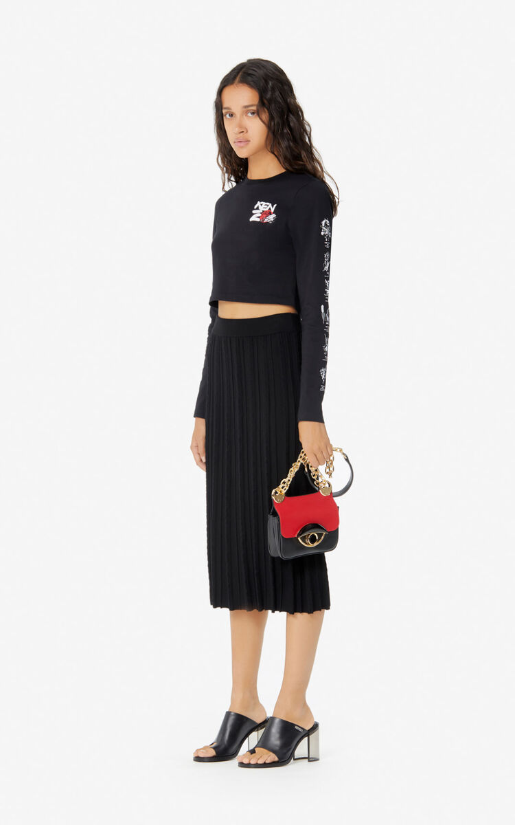 BLACK 'Kung Fu Rat' t-shirt for women KENZO