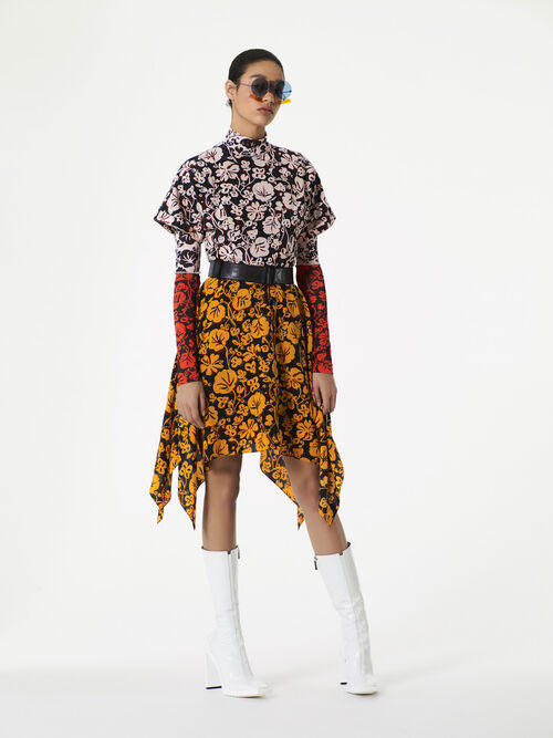 MULTICOLOR 'Floral Leaf' Dress in Crepe for women KENZO