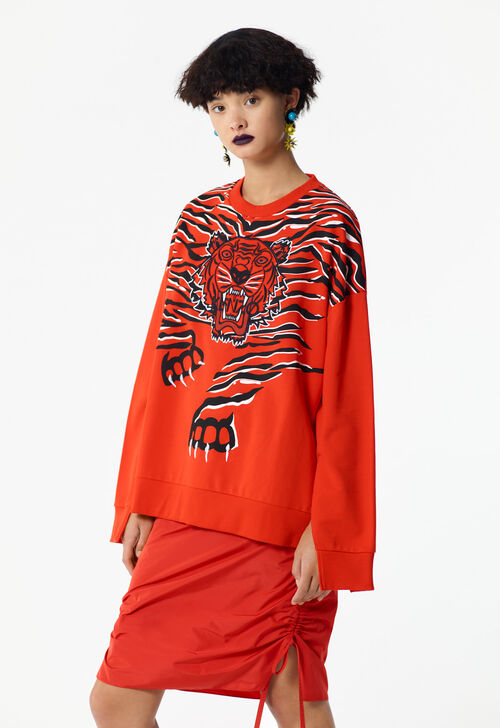 MEDIUM RED 'Crawling Tiger' sweatshirt for women KENZO