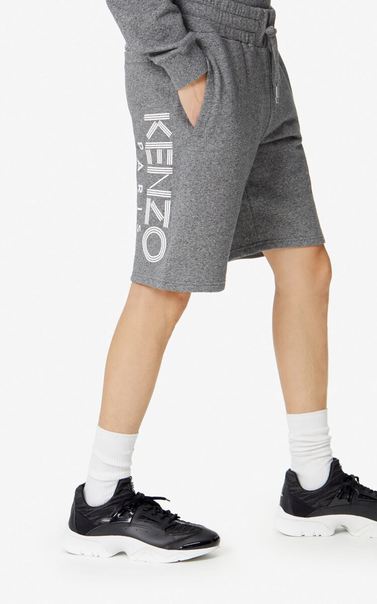 ANTHRACITE KENZO Logo Shorts for women