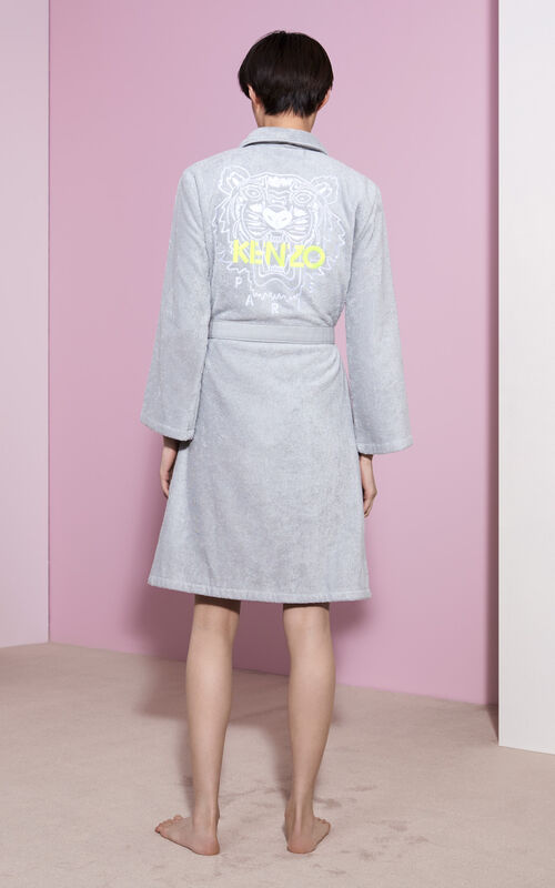 PALE GREY Tiger Dressing Gown for women KENZO
