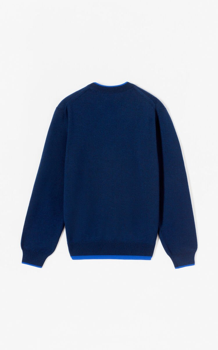 NAVY BLUE Tiger jumper for women KENZO