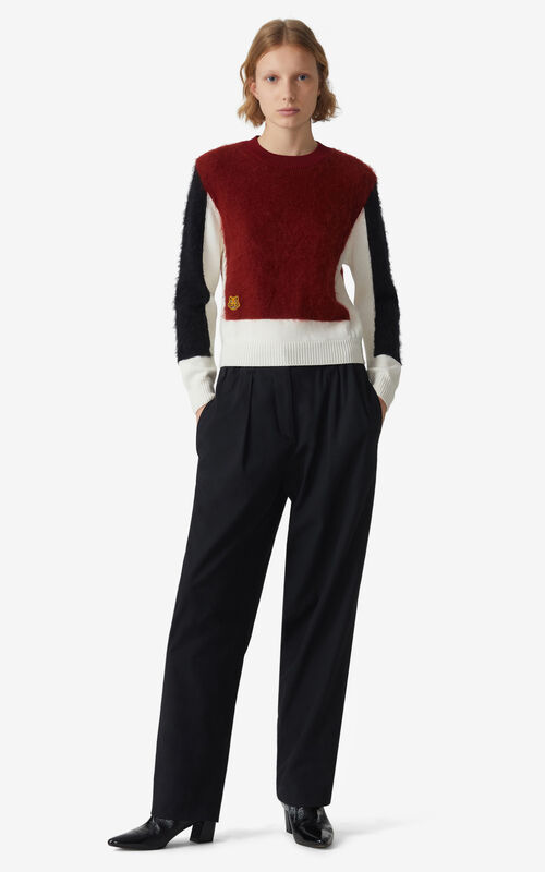 COGNAC Colorblock mohair jumper for women KENZO