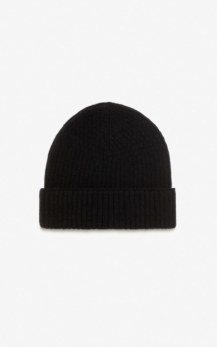 BLACK Woollen 'Tiger Mountain' 'Capsule Expedition' hat for men KENZO