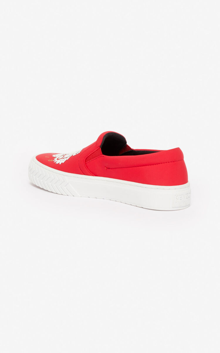 MEDIUM RED K-Skate slip-ons for women KENZO