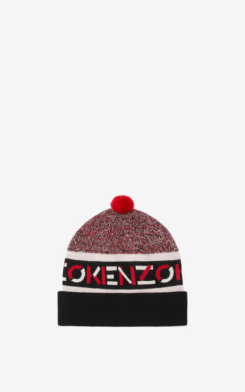 MEDIUM RED KENZO Sport jacquard beanie for women