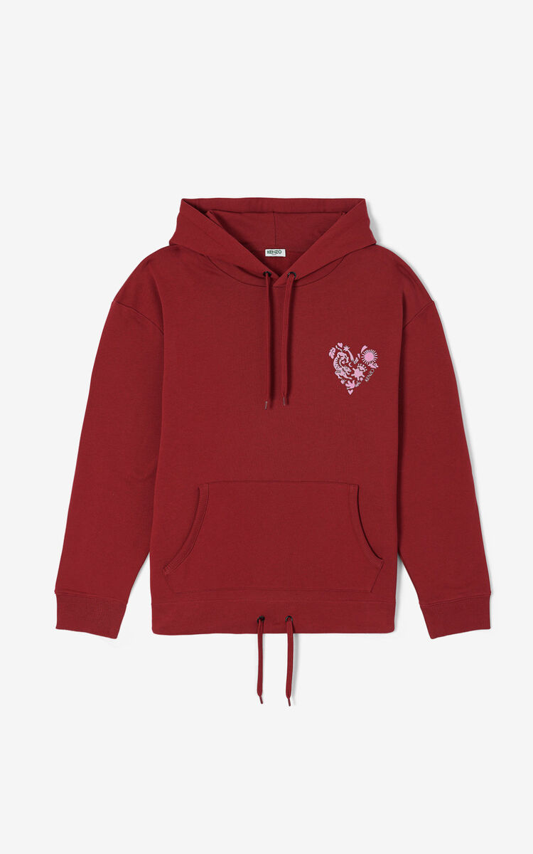 BORDEAUX 'Valentine's Day Capsule' 'Lucky Star' hooded sweatshirt for women KENZO