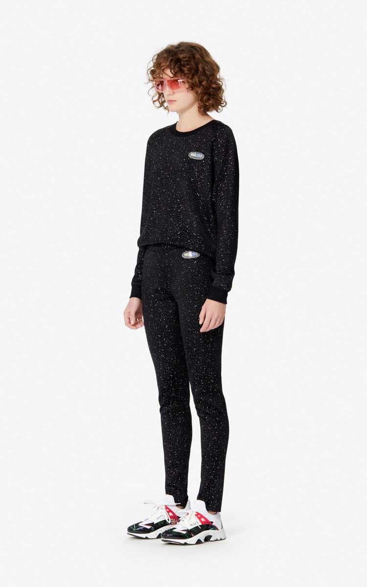 BLACK Iridescent sweatshirt for women KENZO