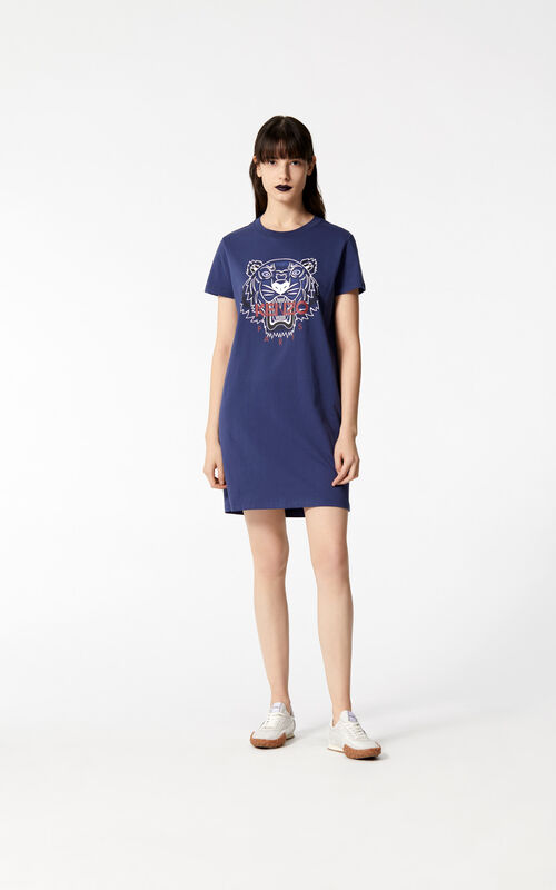 INK 'Bleached Tiger' t-shirt dress for women KENZO