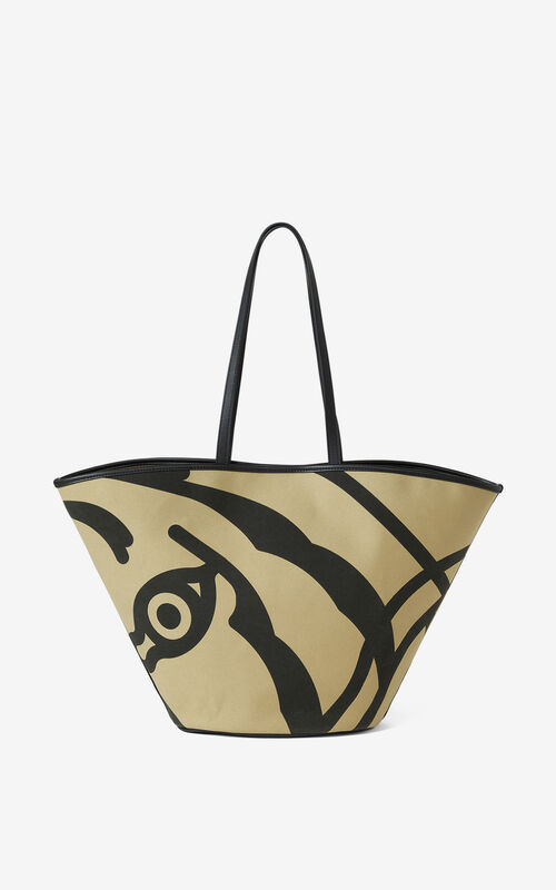 BEIGE Large KENZO Arc tote bag for unisex
