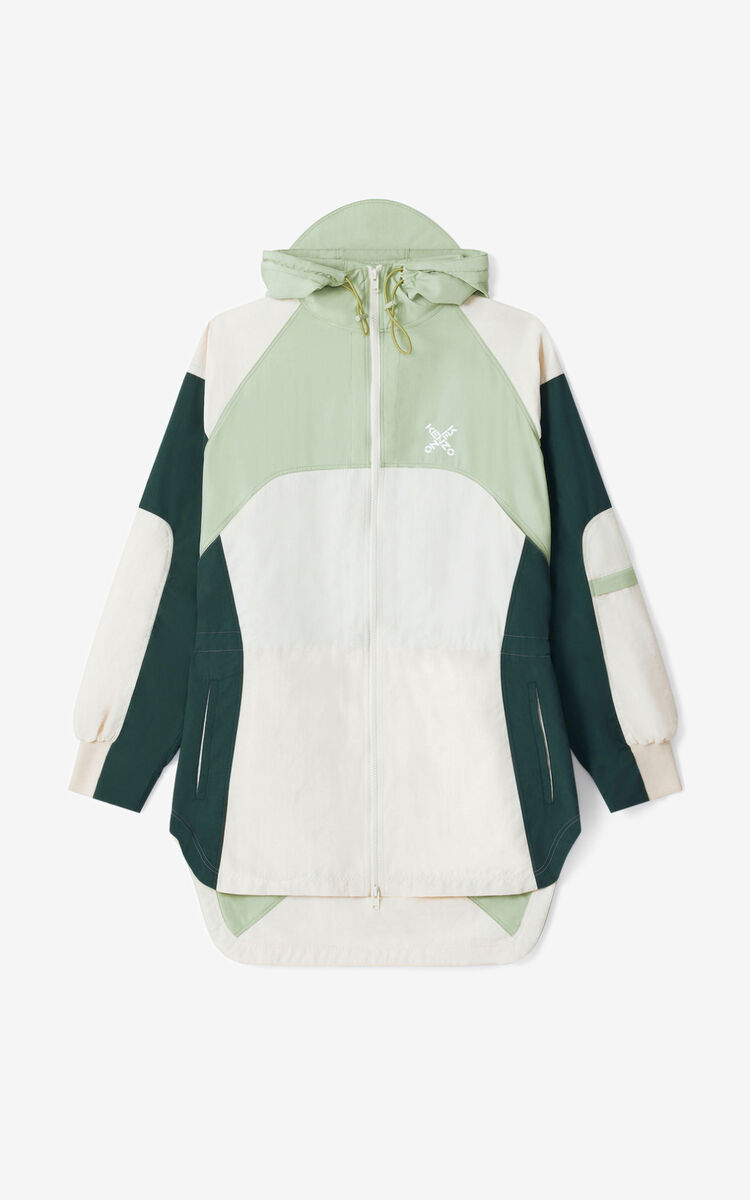 ECRU KENZO Sport 'Little X' lightweight parka for men