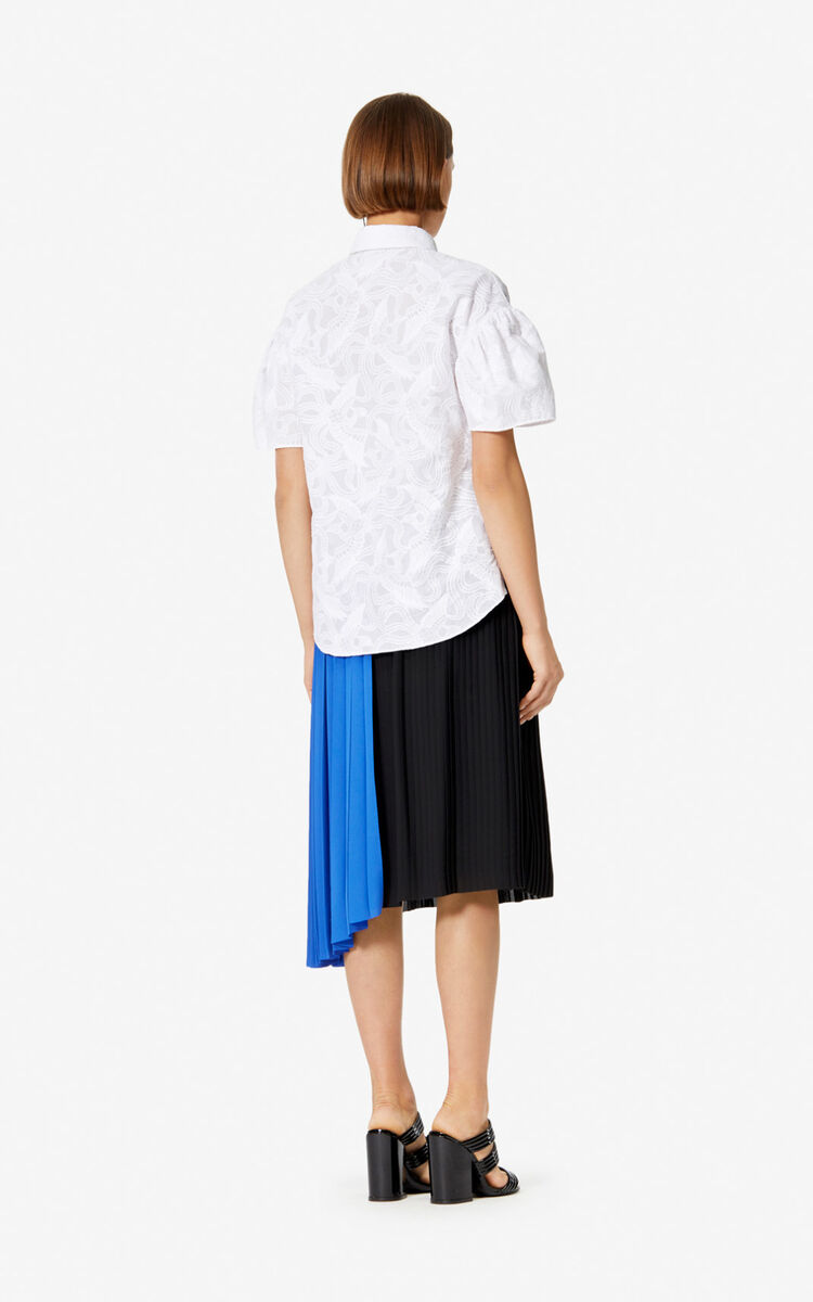 BLACK Two-tone pleated skirt for women KENZO