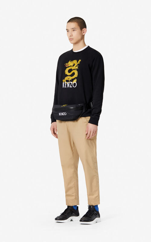 BLACK 'Dragon' Sweatshirt for men KENZO