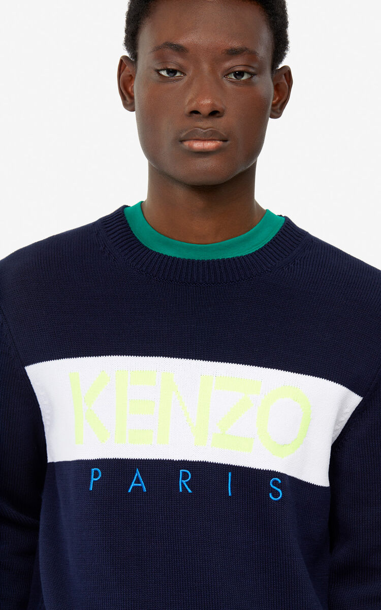 MIDNIGHT BLUE KENZO Paris jumper for women