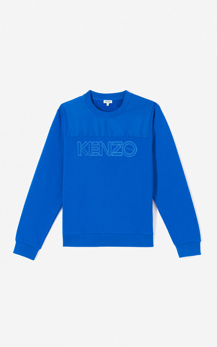 FRENCH BLUE Dual-fabric KENZO sweatshirt for women