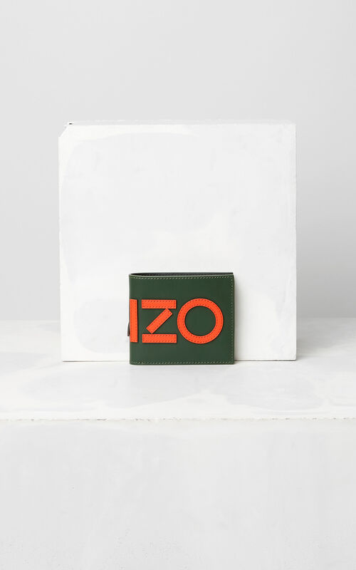 DARK KHAKI Colorblock KENZO Wallet  for men